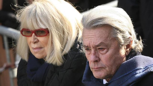 Alain Delon et Mireille Darc [Loic Venance / AFP/Archives]
