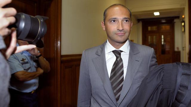 Thomas Fabius, fils de Laurent Fabius, le 1er juin 2011 au Tribunal de Grande Instance de Paris [Bertrand Guay / AFP/Archives]