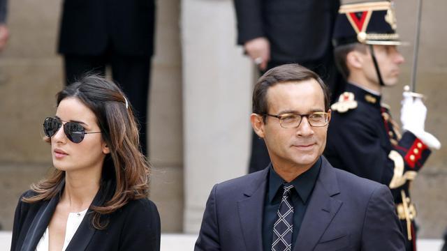 L'animateur Jean-Luc Delarue et sa femme Anissa, le 16 juin 2011 à Paris [Francois Guillot / AFP/Archives]