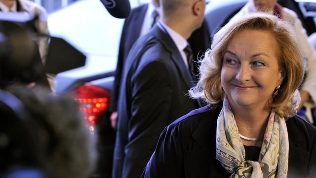 La ministre autrichienne des Finances, Maria Fekter, le 20 juin 2011 à Luxembourg [Georges Gobet / AFP/Archives]