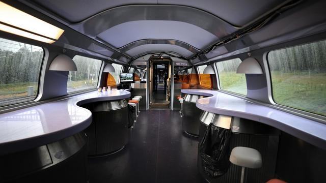 La section restauration d'un TGV