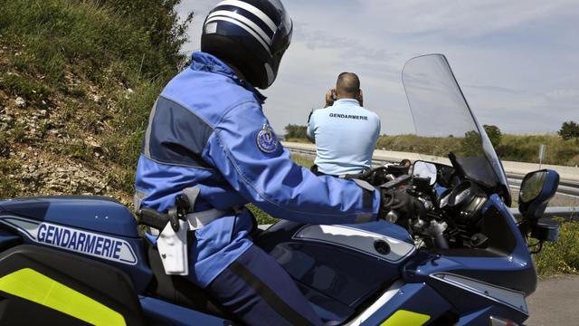 Un motard de la gendarmerie [Jeff Pachoud / AFP/Archives]