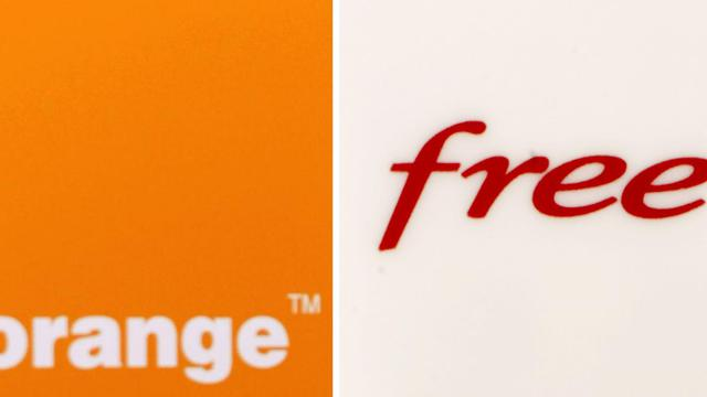 Les logos de Orange et Free [Afp Photo / AFP]