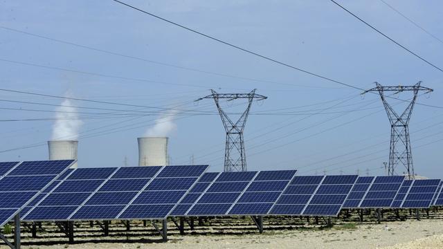 Le parc photovoltaïque de Bollene, en septembre 2011 [Anne-Christine Poujoulat / AFP/Archives]