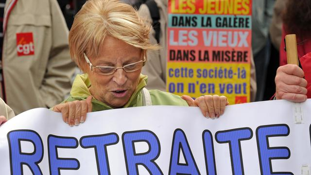 Manifestation de retraités le 6 octobre 2011 à Lille [Philippe Huguen / AFP/Archives]