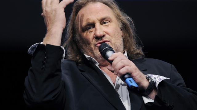 L'acteur Gérard Depardieu lors d'un festival en 2011