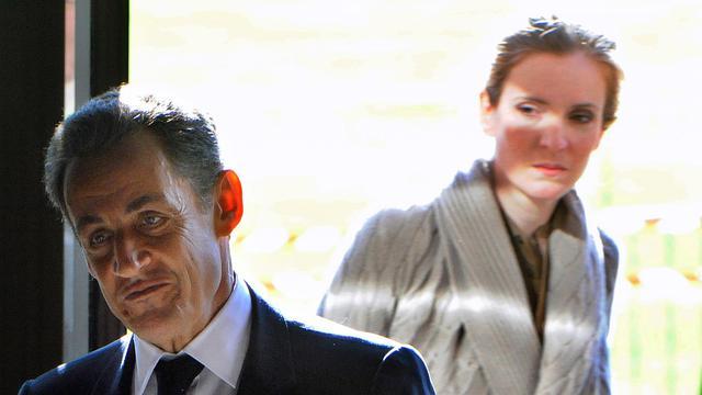 Nicolas Sarkozy et Nathalie Kosciusko-Morizet, le 20 octobre 2011 dans l'ouest de la France [Jean-Francois Monier / AFP/Archives]