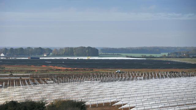 Des panneaux photovoltaïques à Crucey-Villages, le 10 novembre 2011 [Alain Jocard / AFP/Archives]