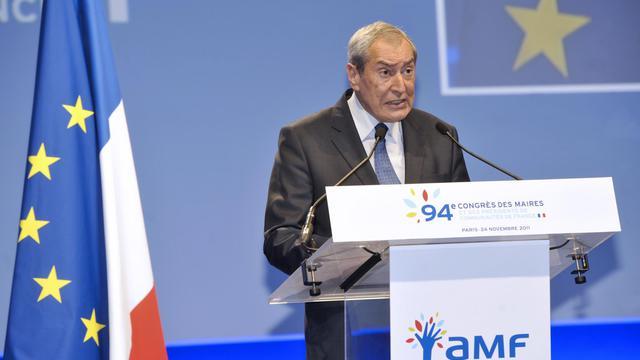 Le président de l'AMF Jacques Pélissard, le 24 novembre 2011 à Paris [Mehdi Fedouach / AFP/Archives]