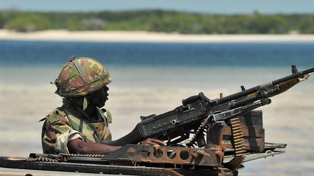 Un soldat kényan [Carl de Souza / AFP/Archives]