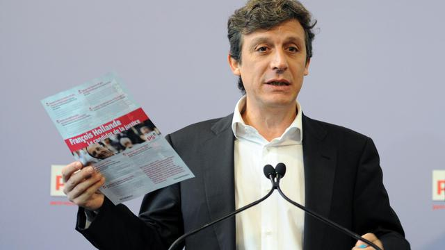 Le porte-parole du Parti Socialiste, David Assouline, le 2 janvier 2012 à Paris [Miguel Medina / AFP/Archives]