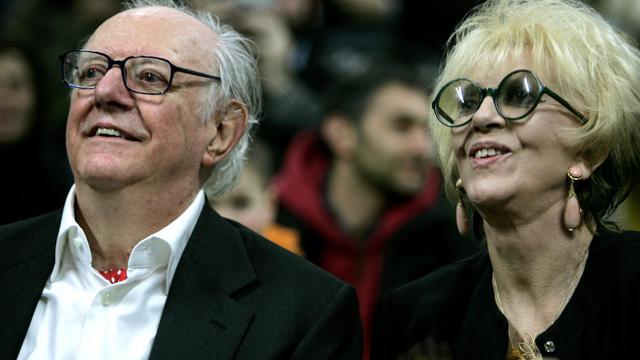 L'écrivain italien et prix Nobel de la littérature Dario Foe et son épouse l'actrice italienne Franca Rame, le 24 mars 2006 à Milan [Filippo Monteforte / AFP/Archives]