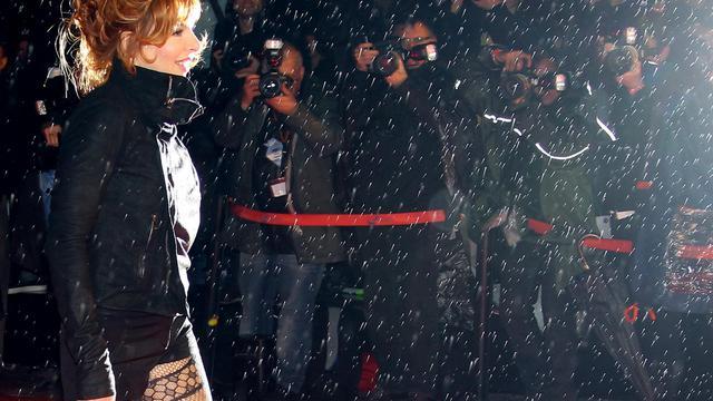 La chanteuse Mylène Farmer, le 28 janvier 2012 à Cannes [Valery Hache / AFP/Archives]