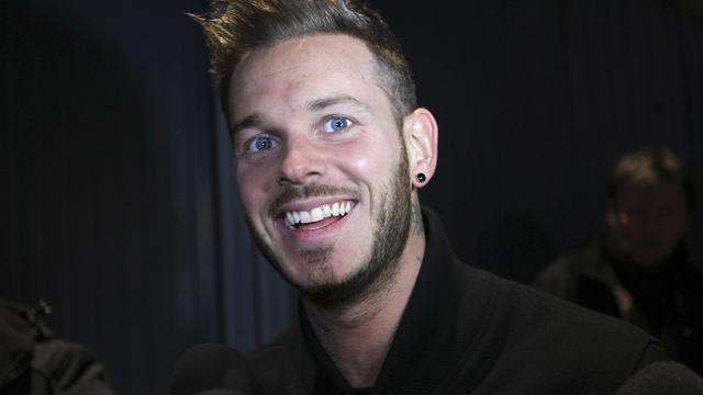 Le chanteur M Pokora répond à des journalistes le 11 février 2012 à Monaco [Valery Hache / AFP/Archives]