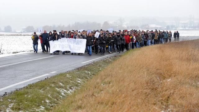 En février 2012, une marche a été organisée à Bouloc en mémoire de Patricia Bouchon, assassinée dans ce village de Haute-Garonne [Remy Gabalda / AFP/Archives]
