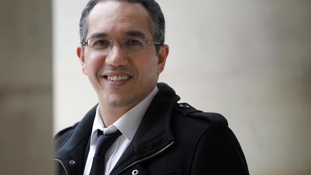 Nordine Nabili, l'un des intervenants du master de journalisme de l'université de Cergy-Pontoise, le 16 février 2012 à Paris [Thomas Samson / AFP/Archives]
