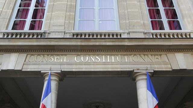 La façade du Conseil constitutionnel [Thomas Samson / AFP/Archives]