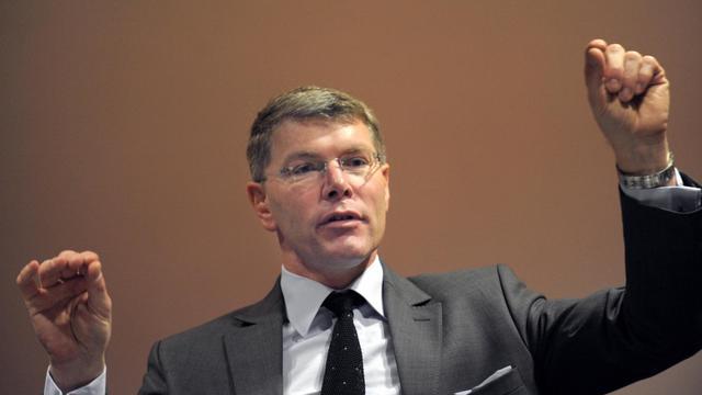 Pierre Berger le PDG d'Eiffage lors d'une conférence de presse le 24 février 2012 à paris [Eric Piermont / AFP/Archives]