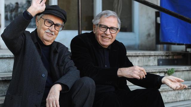 Les réalisateurs Vittorio (g) and Paolo Taviani, le 29 février 2012 à Rome [Tiziana Fabi / AFP/Archives]
