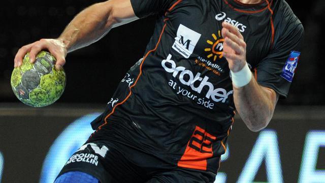 Le Montpelliérain Nikola Karabatic lors d'un match du Championnat de France contre Chambéry le 1er mars 2012 à Montpellier. [Pascal Guyot / AFP/archives]