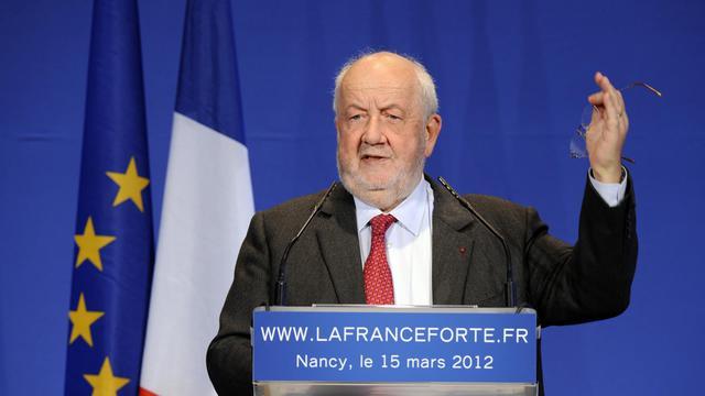André Rossinot le 15 mars 2012 à Nancy [Jean-Christophe Verhaegen / AFP/Archives]