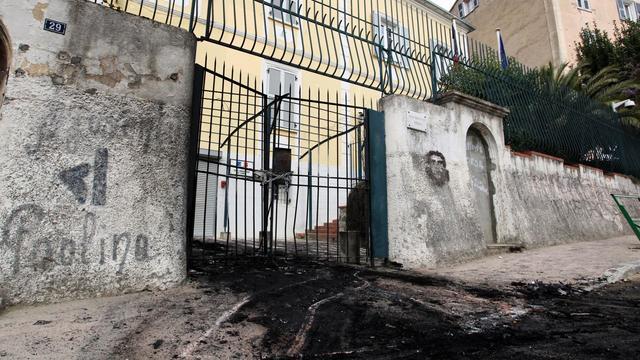 La sous-préfecture de Corte le 1er avril 2012 après l'attentat à la voiture-bélier [Pascal Pochard-Casabianca / AFP/Archives]