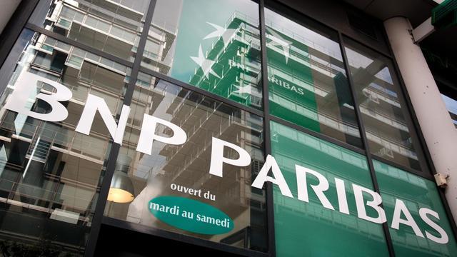 L'entrée d'une agence BNP Paribas à Paris [Loic Venance / AFP/Archives]