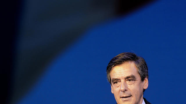 François Fillon (UMP), le 3 mai 2012 à Bordeaux [Jean-Pierre Muller / AFP/Archives]