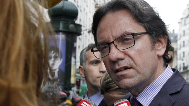 Frédéric Lefebvre, candidat de l'UMP à l'élection législative partielle d'Amérique du Nord, le 7 mai 2012 à Paris [Francois Guillot / AFP/Archives]