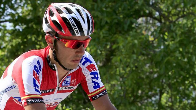 L'Espagnol Joaquim Rodriguez, lors d'une étape du Tour d'Italie le 13 mai 2012. [Luk Benies / AFP/Archives]