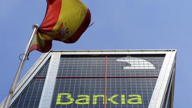 Le logo de la banque Bankia, à Madrid [Dominique Faget / AFP/Archives]