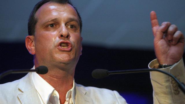 Louis Aliot, vice-président du FN, le 6 juin 2012 près de Perpignan [Raymond Roig / AFP/Archives]
