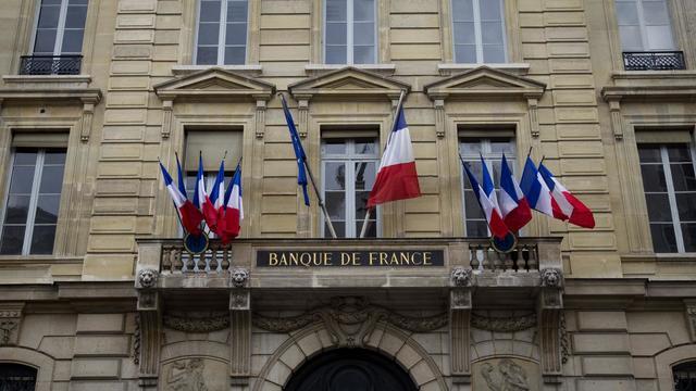 Vue de la façade de la Banque de France à Paris [Joel Saget / AFP/Archives]