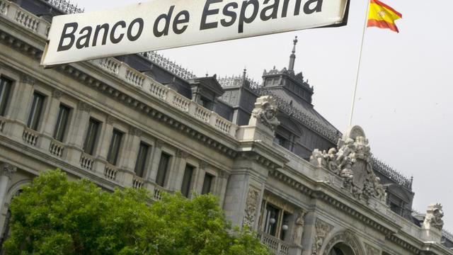 Vue de la Banque centrale espagnole à Madrid [Dominique Faget / AFP/Archives]