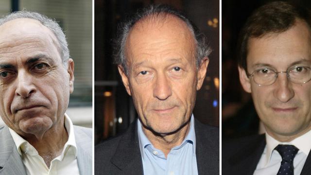 Montage de photos de Ziad Takieddine, Thierry Gaubert et Nicolas Bazire [Thomas Samson / AFP/Archives]