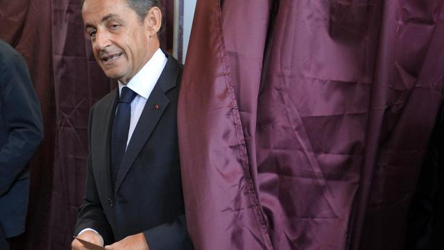 L'ancien président Nicolas Sarkozy, le 10 juin 2012 à Paris [Philippe Wojazer / Pool/AFP/Archives]