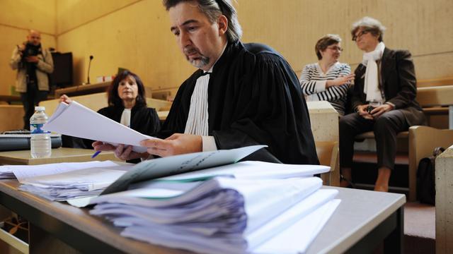 Rodolphe Constantino, avocat de l'association Enfance et partage,  le 11 juin 2012 au Palais de justice du Mans [Jean-Francois Monier / AFP/Archives]