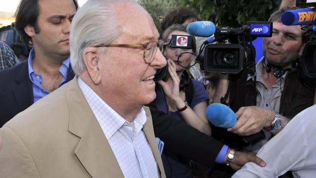 Jean-Marie Le Pen, fondateur du FN, le 17 juin 2012 à Carpentras, dans le sud de la France [Boris Horvat / AFP/Archives]