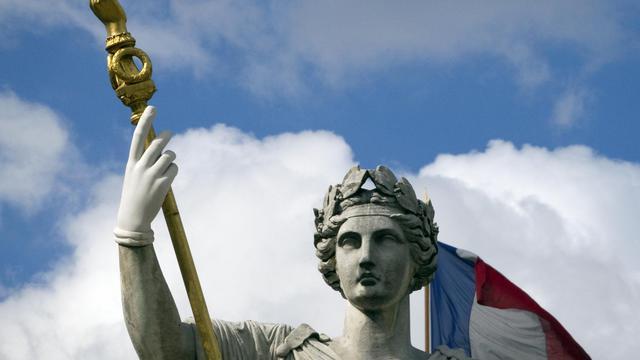 La statue de Marianne devant l'Assemblée nationale à Paris [Joel Saget / AFP/Archives]