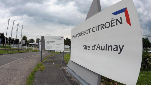 L'entrée de l'usine de PSA Peugeot Citroën à Aulnay-Sous-Bois [Eric Piermont / AFP/Archives]