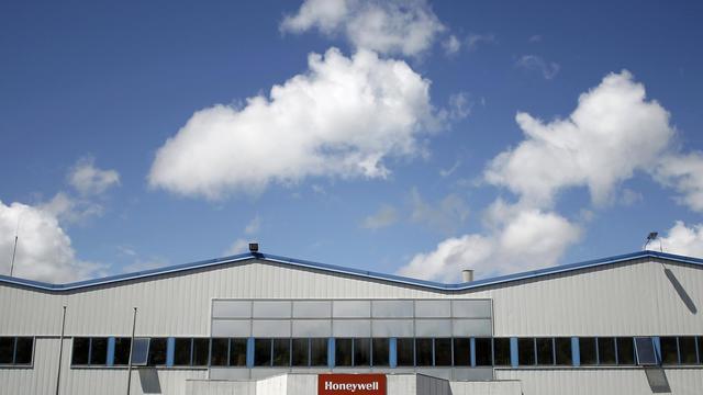 L'entrée de l'usine Honeywell à Condé-sur-Noireau, dans le Calvados, le 21 juin 2012 [Charly Triballeau / AFP/Archives]
