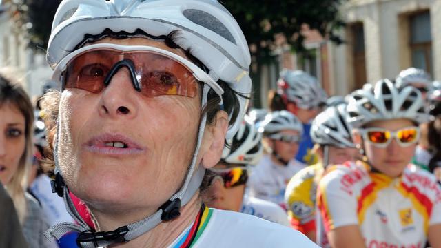 Jeannie Longo le 23 juin 2011 à Saint-Amand-les-Eaux [Philippe Huguen / AFP/Archives]