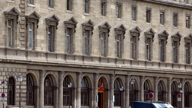 L'entrée du 36, quai des Orfèvres à Paris, siège historique de la police judiciaire parisienne [Thomas Samson / AFP/Archives]
