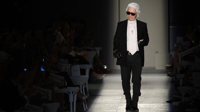 Le créateur Karl Lagerfeld, le 3 juillet 2012 à Paris [Martin Bureau / AFP/Archives]