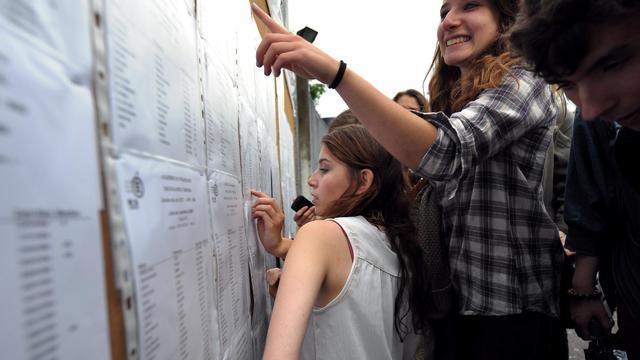 Des élèves découvrent les résultats du baccalauréat, le 06 juillet 2012 au lycée Pasteur de Strasbourg. [Frederick Florin / AFP/Archives]