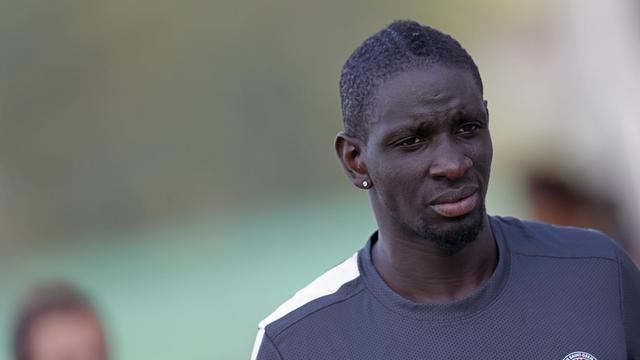 Le défenseur du Paris SG Mamadou Sakho l'une d'une séance d'entraînement en Autriche, à Stegersbach, le 6 juillet 2012. [Alexander Klein / AFP/archives]
