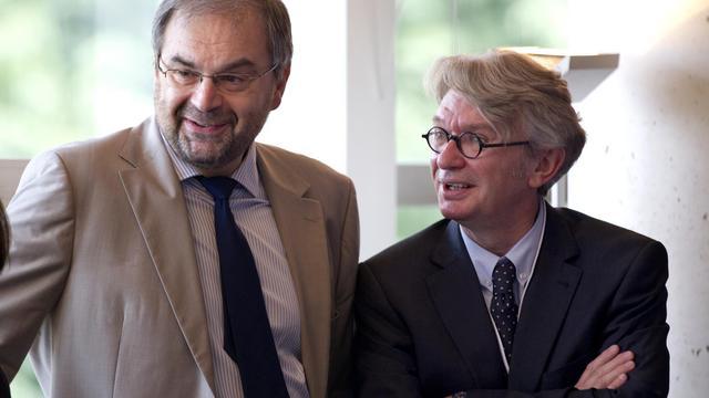 François Chérèque (CFDT) et Jean-Claude Mailluy (FO) le 9 juillet 2012 à Paris [Charles Platiau / AFP/Archives]