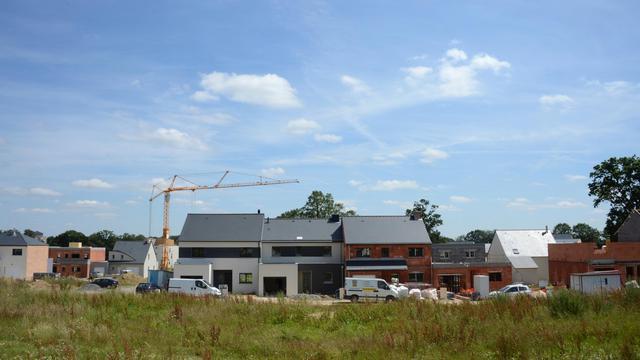 Des maisons en construction dans l'ouest de la France, en juillet 2012 [Damien Meyer / AFP]