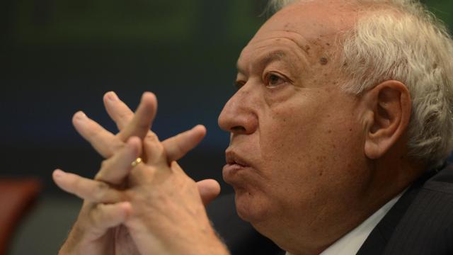 """Face à la crise de la dette touchant l'Espagne, seule la Banque centrale européenne (BCE) """"peut éteindre l'incendie"""", a affirmé jeudi le ministre espagnol des Affaires étrangères José Manuel García-Margallo, avant une réunion très attendue de l'institution de Francfort.[AFP]"""