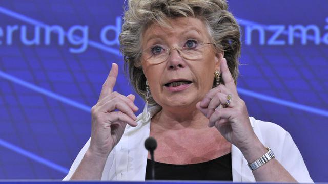 Viviane Reding, commissaire européenne à la Justice, le 25 juillet 2012 à Bruxelles [Georges Gobet / AFP/Archives]